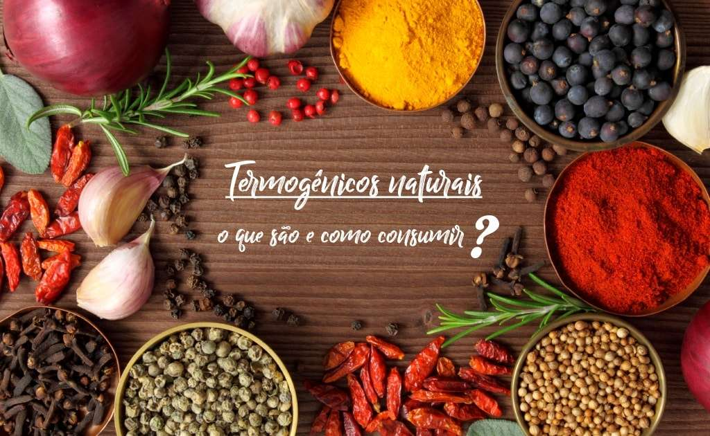 Produtos naturais que fazem referência aos contidos em termogênicos do mercado e ao centro Termogênicos naturais: o que são e como consumir?